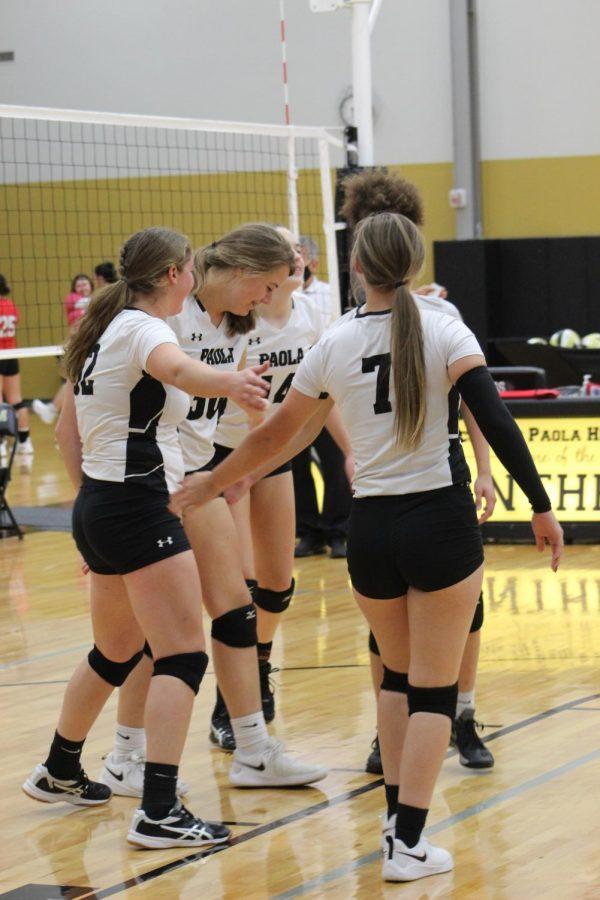 The junior varsity volleyball team goes against Leavenworth on September 10.
